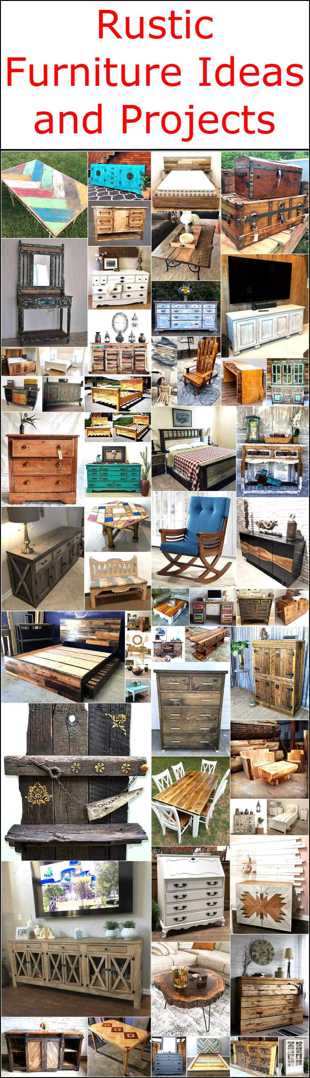 Rustic Furniture Ideas and Projects