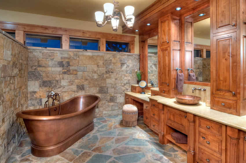 rustic bathroom (9)