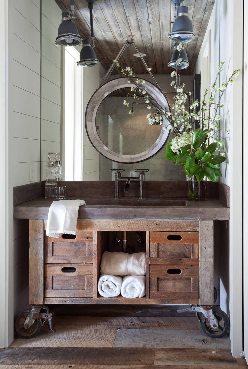 Modern Rustic Bathroom Vanity Ideas And Designs Rustic Home Decor And Design Ideas