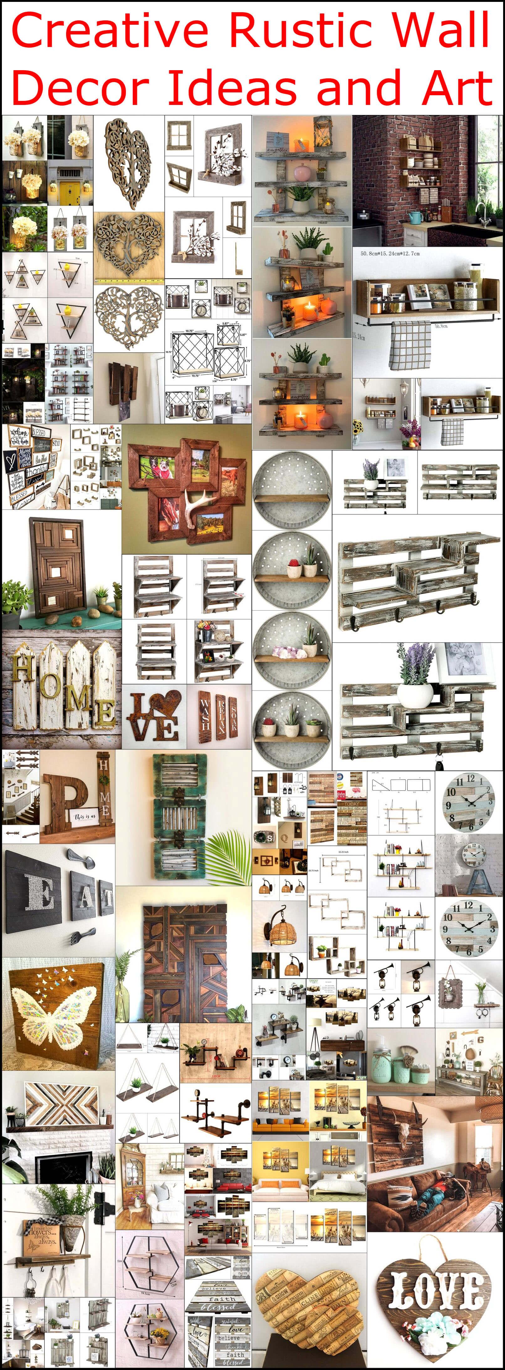 Creative Rustic Wall Decor Ideas And Art Rustic Home Decor